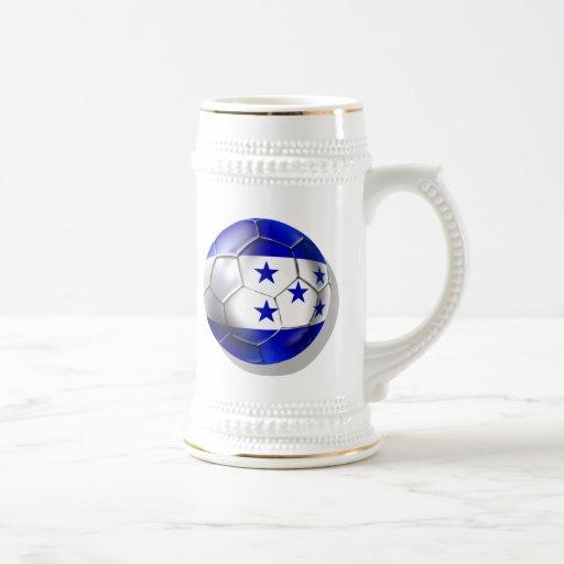 Honduras flag 5 star soccer ball futbol fans gifts mug