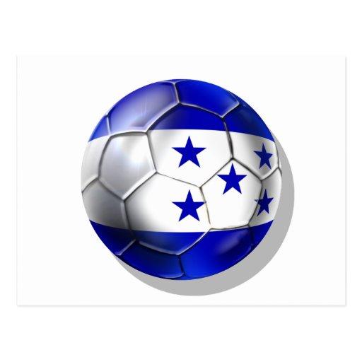 Honduras flag 5 star soccer ball futbol fans gifts post cards