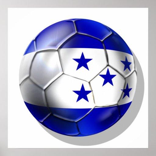 Honduras flag 5 star soccer ball futbol fans gifts posters