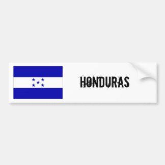 Honduras flag bumber white car bumper sticker