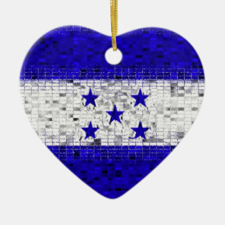 Honduras Flag glitter ornament