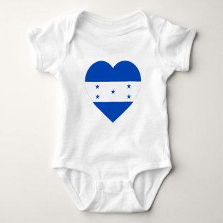 Honduras Flag Heart Baby Bodysuit