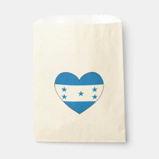 Honduras Flag Heart Favour Bags