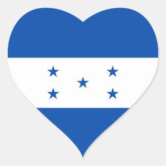 Honduras Flag Heart Sticker