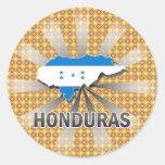 Honduras Flag Map 2.0 Round Stickers