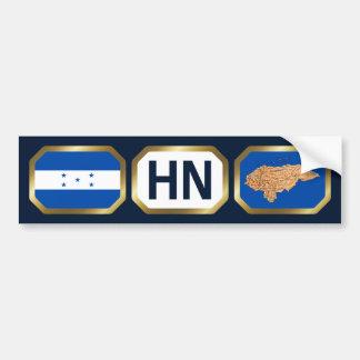 Honduras Flag Map Code Bumper Sticker