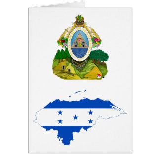 Honduras Flag Map HN Card
