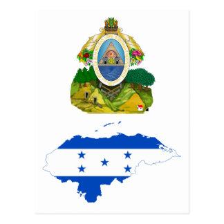 Honduras Flag Map HN Postcard