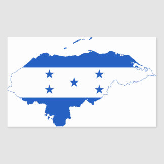 Honduras Flag Map HN Rectangular Sticker