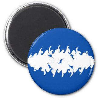 Honduras Gnarly Flag 6 Cm Round Magnet