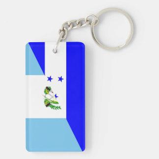 honduras guatemala country half flag symbol key ring