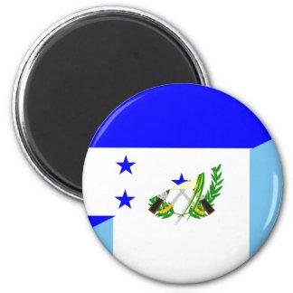 honduras guatemala country half flag symbol magnet