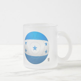 Honduras - Los Catrachos Football Frosted Glass Mug