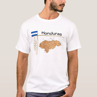 Honduras Map + Flag + Title T-Shirt