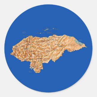 Honduras Map Sticker
