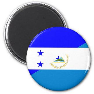 honduras nicaragua half flag country symbol 6 cm round magnet