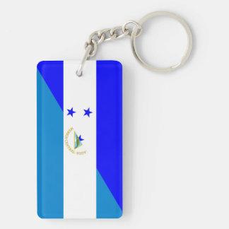 honduras nicaragua half flag country symbol key ring