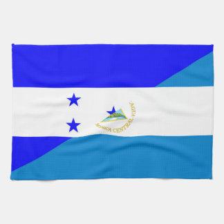 honduras nicaragua half flag country symbol tea towel