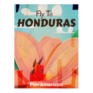 Honduras Retro Vintage vacation Poster Postcard