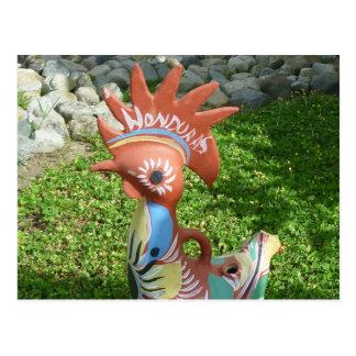 honduras rooster postcard