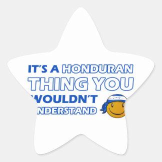 honduras Smiley Designs Star Sticker