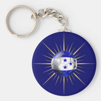 Honduras Soccer Starburst Key Ring