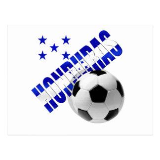 Honduras soccer stars football ball artwork design postcard