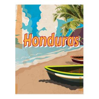 Honduras Vintage vacation Poster Postcard