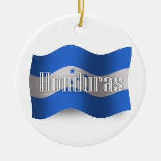 Honduras Waving Flag Christmas Ornament