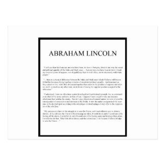 Honest Abe alternate layout Postcard