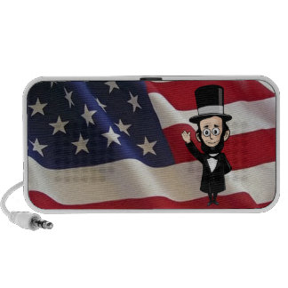 Honest Abe Lincoln in front of Old Glory iPhone Speaker