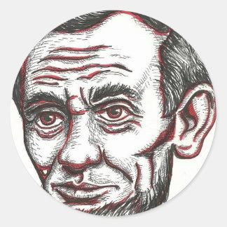 Honest Abe Round Sticker