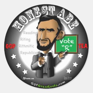 Honest Abe Round Stickers