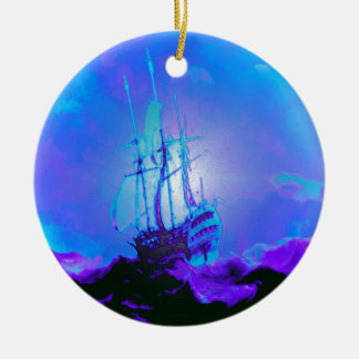 Honesty, Truth, Integrity, Honor, Ship, Waves Christmas Ornament