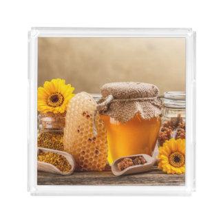 Honey Acrylic Tray
