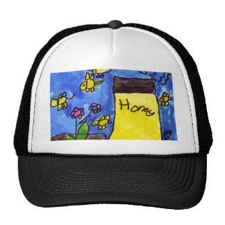 Honey and Bees Motif Cap
