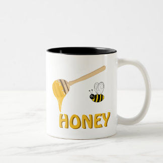Honey and Honey Bee Cup Two-Tone Mug