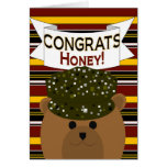 Honey - Army Soldier Congrats! Greeting Card