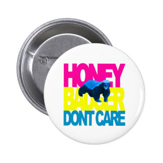 Honey Bader Don't Care South Beach Pinback Button