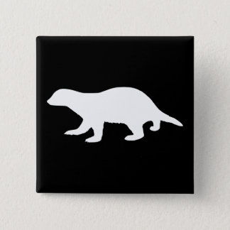 Honey Badger 15 Cm Square Badge
