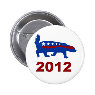 honey badger 2012 6 cm round badge