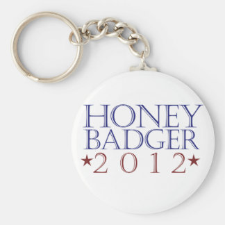 Honey Badger 2012 Basic Round Button Key Ring