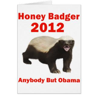 Honey Badger 2012 Greeting Card