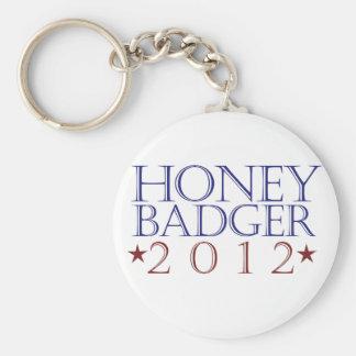 Honey Badger 2012 Basic Round Button Key Ring