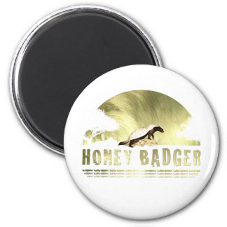Honey Badger 6 Cm Round Magnet