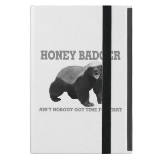 Honey Badger Ain't Nobody Got Time For That Covers For iPad Mini