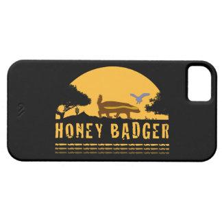 Honey Badger and Bird Sunset Black iPhone5 Case