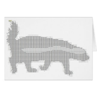 honey badger ascii card