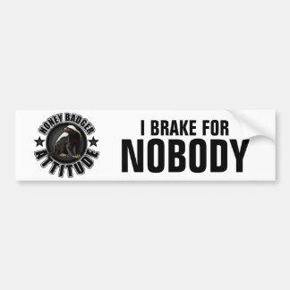 Honey Badger ATTITUDE - Round Design Bumper Sticker