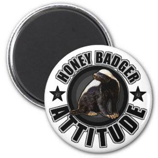 Honey Badger ATTITUDE - Round Design Magnet